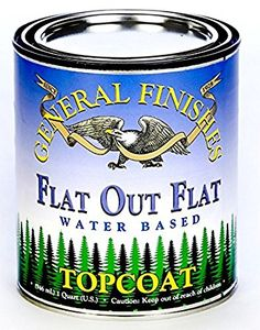 $21.  General Finishes Flat Out Flat Topcoat, Pint