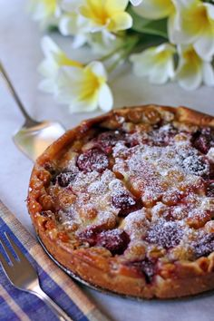 Gooseberries and Strawberry Clafoutis