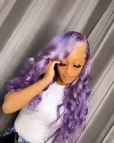 Purple Hair Black Girl, Light Purple Hair, Purple Wig, Mint Hair, Baddie Hairstyles, Black Girls Hairstyles, Weave Hairstyles, Medium Hair Styles, Curly Hair Styles