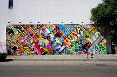 Comic styles on the Bowery & Houston Mural (Revok & POSE, 2013)