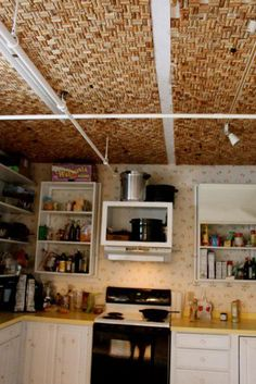 Wine Cork Ceiling Tiles Diy Craft Projects Pinterest