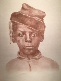 Young slave child - one of the collection Beloved: Legacy of Slavery by Mary Burkett, SC artist.