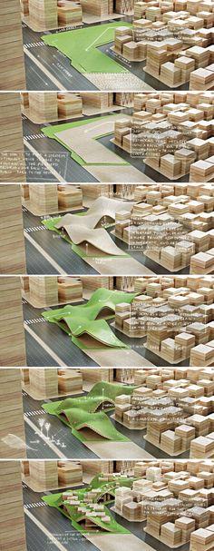 Maquette Center for Information Penda concept model architecture