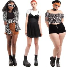 Zebra print and a whole lot more up for grabs now in our new arrivals! Pretty Outfits, Cool Outfits, Fashion Outfits, Alternative Outfits, Alternative Fashion, Look Retro, Looks Plus Size, Estilo Retro, 2000s Fashion