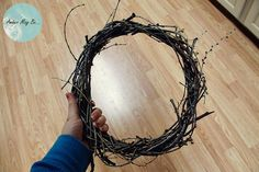 DIY How to make a wreath out of sticks - Must actually get around to doing the homemade wreath this fall/winter!