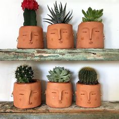 How cute are these face planters! – clay plant faces – … – How cute are these face planters! – clay plant faces – How cute are these face planters! – clay plant faces – … – How cute are these face planters! Ceramic Pottery, Ceramic Art, Pottery Pots, Thrown Pottery, Slab Pottery, Ceramic Bowls, Face Planters, Ideias Diy, Diy Garden Decor