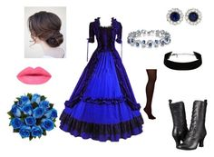 Blue Victorian Outfit by vic3000 on Polyvore featuring beauty, Tiffany & Co., Hue and Miz Mooz
