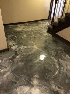 Metallic Marble Epoxy Living Area- Speakman Coatings- Kansas City MO