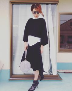 UNIQLO and LEMAIRE knit makeover also muffler ◎ Milan rib skirt of touch ♡ #musthave #uniqloandlemaire #uniqlo #lemaire #knitstagram #knitstyle #ootd #coordinate #style #fashion #stylenlogger # Kunio adult plan Bag: #urbanbobby Shoes: #Buffalo Sunglasses: #gstarraw
