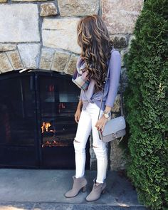 how to wear white in the fall