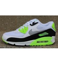 check out df9aa c80b5 Air Max 90 Essential White Flash Lime Trainer Outlet