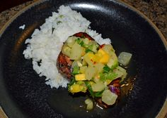 Fantastic Ahi Tuna Asian Infusion with Pineapple Mango Chutney and Spicy Rice. You have to try this.   http://msultimatesophistication.wordpress.com/2013/12/18/one-bad-apple-being-bad-never-tasted-so-good/
