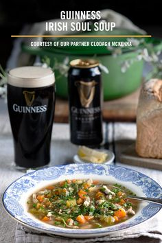Chef Clodagh McKenna's Guinness Irish Soul Soup is a hearty and warming recipe made with Guinness Draught. Why not try making it at home? You can find the recipe here. Vegetarian Recepies, Vegan Recipes, Cooking Recipes, Great Recipes, Soup Recipes, Irish Soup, Guinness Recipes, Corned Beef Recipes, Amigurumi