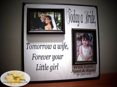 Personalized Wedding Picture Frame Gift Today by YourPictureStory Key West Wedding, Our Wedding, Dream Wedding, Wedding Ideas, Wedding Stuff, Wedding Decorations, Wedding Inspiration, Wedding Picture Frames, Wedding Frames