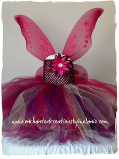 Woodland Fairy Tutu Dress with Wings. by EnchantedbyMelanie, $55.00
