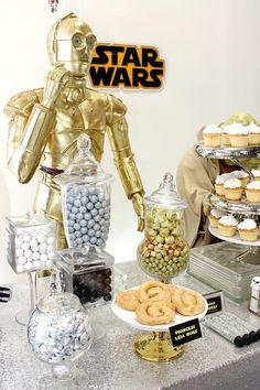 Candy + Sweet Bar from a Star Wars Birthday Party via Kara's Party Ideas | KarasPartyIdeas.com (3)