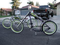 Very Cool custom Nirve Switchblade chopper cruiser bike!!!