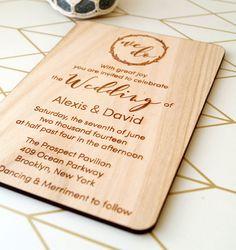 Wooden wedding invitation rustic wedding by CorkCountryCottage
