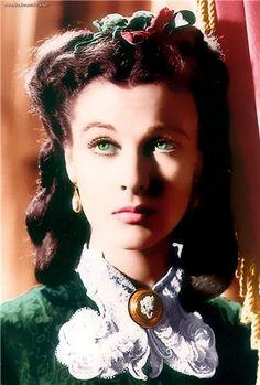 Scarlett O'Hara in emerald