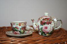 Vintage Victorian Miniature Tea Cup and Tea Pot | eBay