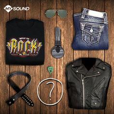 #Rock is not dead!  Cosa non può mancare nel look di un vero #rocker?   #Outfit #MySound #Musica #Music #Look #Chitarra #Guitar #RocknRoll #Auricolai #Headphones #SpeakDenim