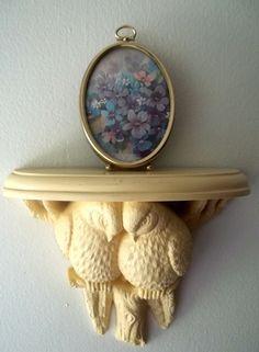 Vintage Burwood Homco Syroco Hollywood Regency Dove Bird Shelf not heavy Shabby