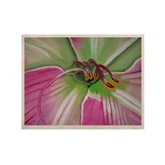 "Cathy Rodgers ""Pink and Green"" Flower KESS Naturals Canvas (Frame not Included)"