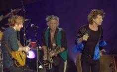 Keith Richards, Ed Sheeran and Mick The Rolling Stones #KeithRichards #PattiHansen #StonesIsm #CrosseyedHeart #Zipcode #EdSheeran