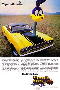 1970 Plymouth Road Runner Ad