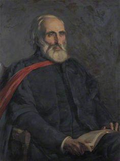 """Fenton John Anthony Hort (1828–1892), DD, Hulsean Professor of Divinity (1879–1887), Lady Margaret Professor (1887–1892)"", 1893, by George Percy Jacomb-Hood (British, 1857-1929)."