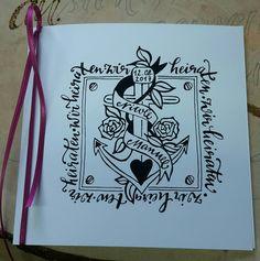 Hochzeitseinladungen, hergestellt für Dagis Deko