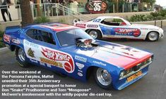 Snake and Mongoose Funny Cars