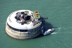 This 130+ year-old British fort has been turned into a luxury retreat. The Spitbank Fort Hotel is one mile outside of Portsmouth Harbor in Hampshire.