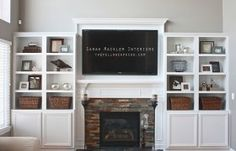 Love the Overmantel idea for behind our TV