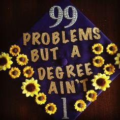 My decorated graduation cap! LSU!