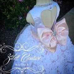 Bautismo vestido vestido Mini flor chica por ZulettCouture