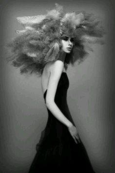 Hair by Nicholas French Love Hair, Big Hair, Creative Hairstyles, Cool Hairstyles, Fluffy Hair, Editorial Hair, Fantasy Hair, Avant Garde Hair, Hair Shows