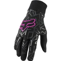 Fox Racing Mudpaw Infinity Women's Dirt Bike Motorcycle Gloves - Black/Pink / X-Large by Fox Racing, Dirt Bike Gear, Motocross Gear, Dirt Biking, Motorcycle Store, Motorcycle Gloves, Fox Racing Clothing, Enduro, Biker Gear, Riding Gear