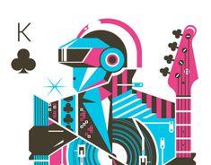 "Echa un vistazo a este proyecto @Behance:""Tribute to Daft Punk"" https://www.behance.net/gallery/8407851/Tribute-to-Daft-Punk"