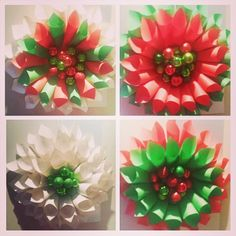 Christmas paper wreaths from coloured paper and book pages. Christmas Paper, Christmas 2014, Christmas Wreaths, Paper Wreaths, Colored Paper, Book Pages, Flower Crafts, Holiday Decor, Instagram Posts