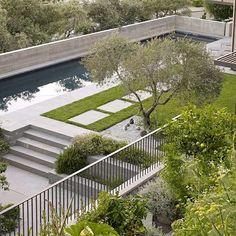 AuBergewohnlich Beispiele Für Moderne Gartengestaltung Pool Betonboden Rasen Betonboden,  Blasen, Zeitgenössische Gartengestaltung, Moderne Landschaftsgestaltung