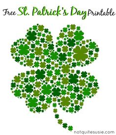Patrick's Day Shamrock Printable Saint Patrick, Shamrock Printable, St. Patricks Day, St Patrick's Day Decorations, Irish Blessing, Irish Traditions, St Paddys Day, Luck Of The Irish, St Pattys