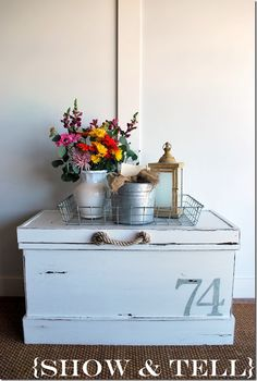 Painted Number Cedar Chest