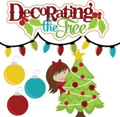 Decorating The Tree SVG files for scrapbooking christmas svg files christmas tree svg files