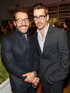Two spexy dudes hangin' out togetha?! It's an eyewear dream come true! Check out Jeremy Piven and Colin Farrell, both sporting über trendy specs!