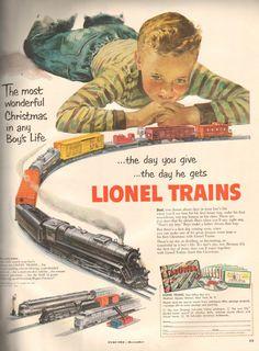Vintage Lionel train ad