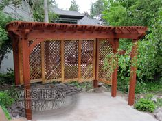Free Standing Pergola Gallery, Free Standing Pergola Images | Western Timber Frame - Evans1_19x8