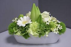 bloemstuk wit bootvorm - bloemonline.be   Florist Verdonck