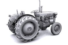 IMT tractor 3d