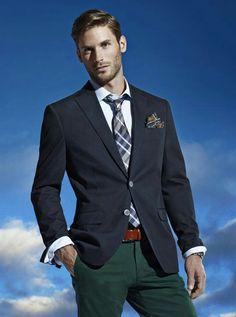 Blue with Green Mens Fashion Looks & Style Inspiration www.mensfashionmagazine.com